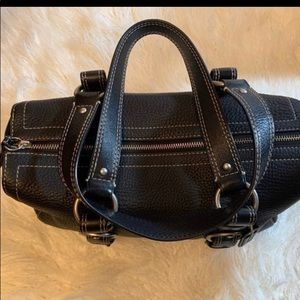 Coach Black Pebbled Grain Handbag